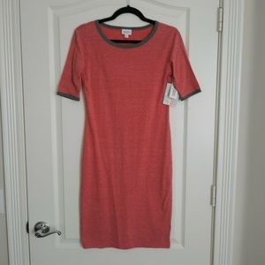 New Lularoe Dress XS Women's Red Heathered JULIA